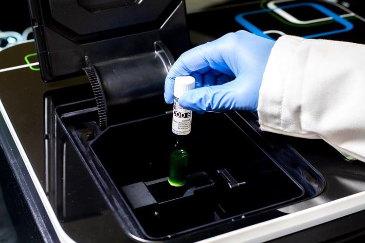 COD Reagent Insert Into Spectrophometer